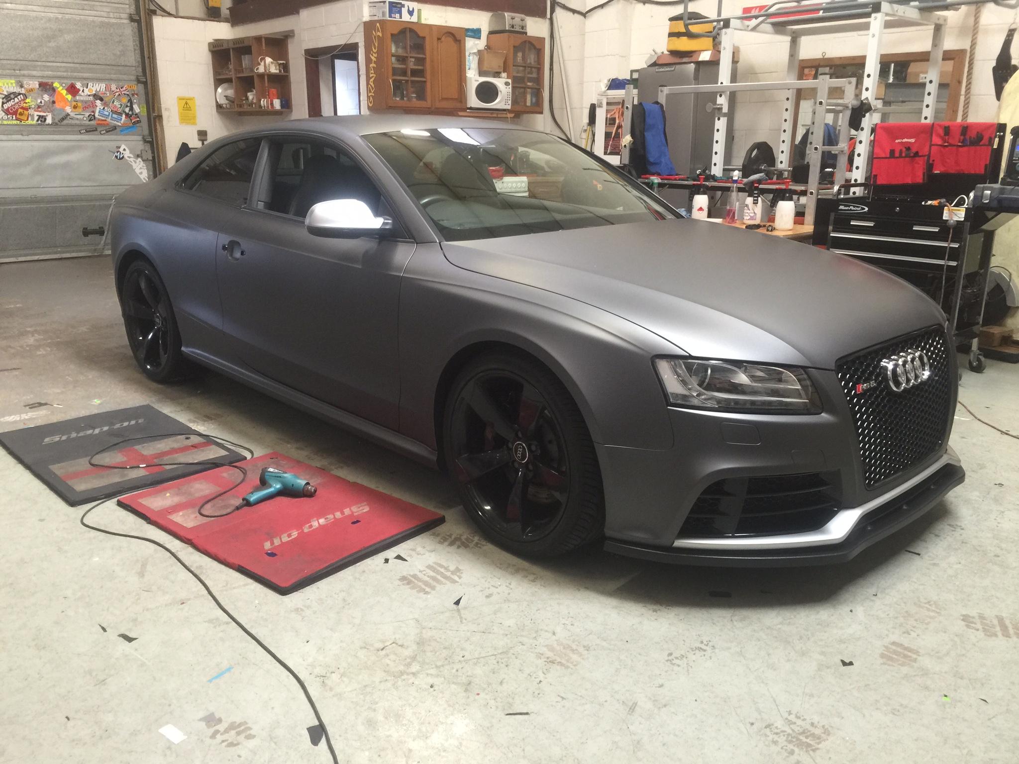 Audi Rs5 3m Matte Metallic Dark Grey Wrap Universal Graphix